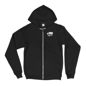 Washington Statehood 1889 Zip Hoodie (white)