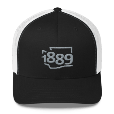 Washington Statehood 1889 Baseball Cap (gray)