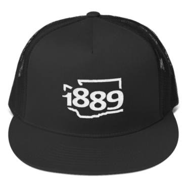 Washington Statehood 1889 Trucker Hat (white)