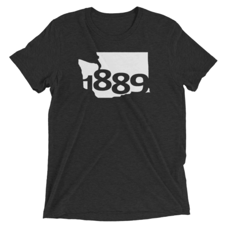 Washington Statehood 1889 Short-Sleeve T-Shirt (white)