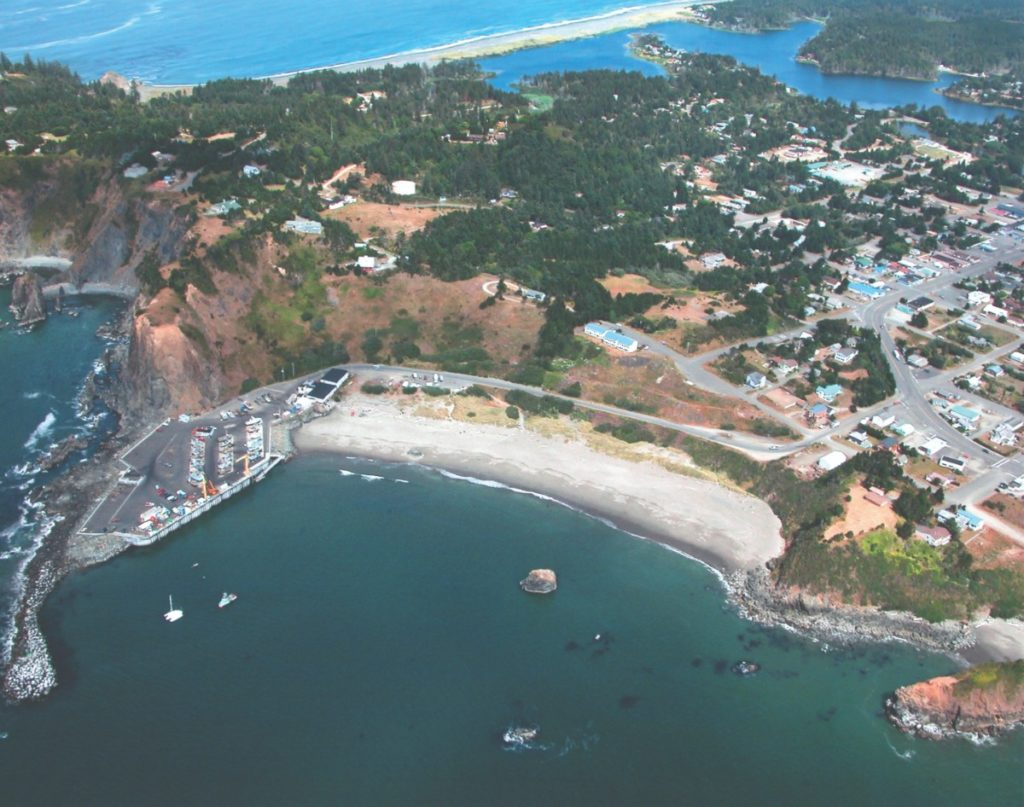 Port Orford aerial