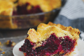 Lemon lets the Oregon blackberries shine in this traditional pie.