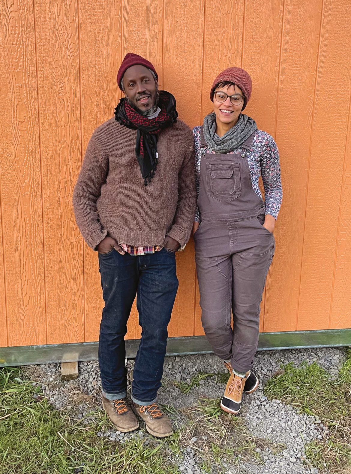 Black Futures Farm co-owners Malcolm Hoover, left, and Mirabai Collins.