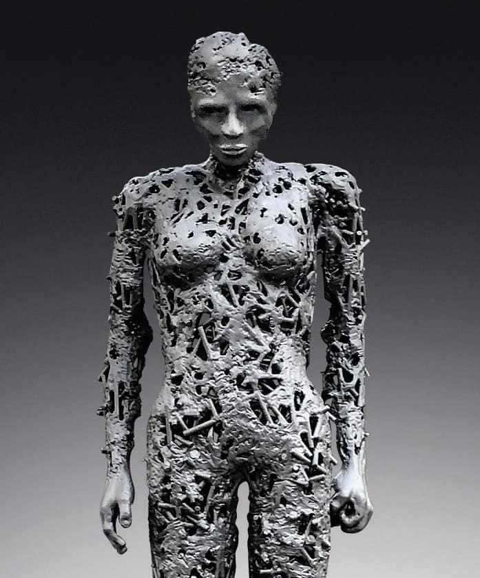 Breezy Anderson welding sculpture