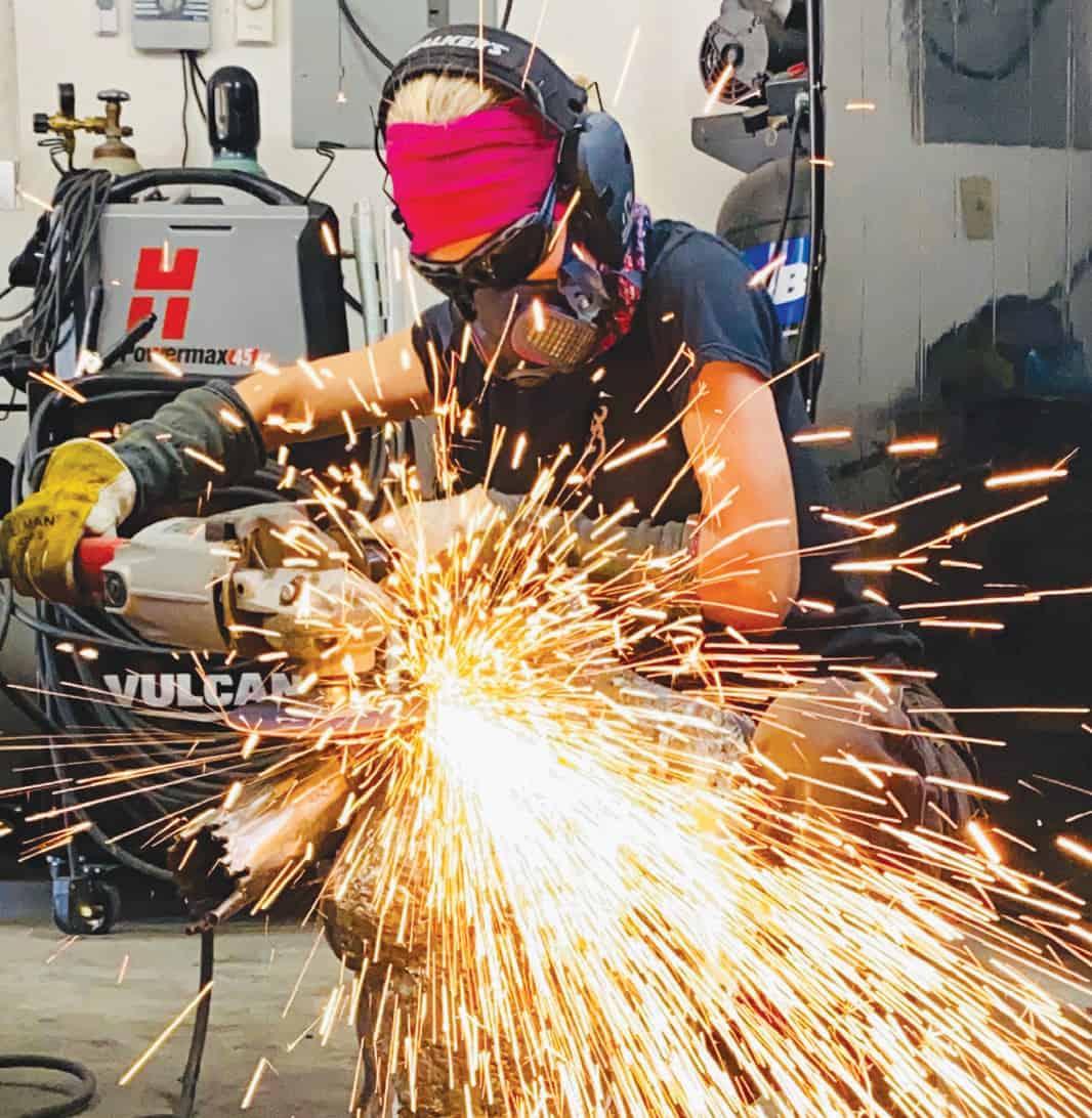 Breezy Anderson welding