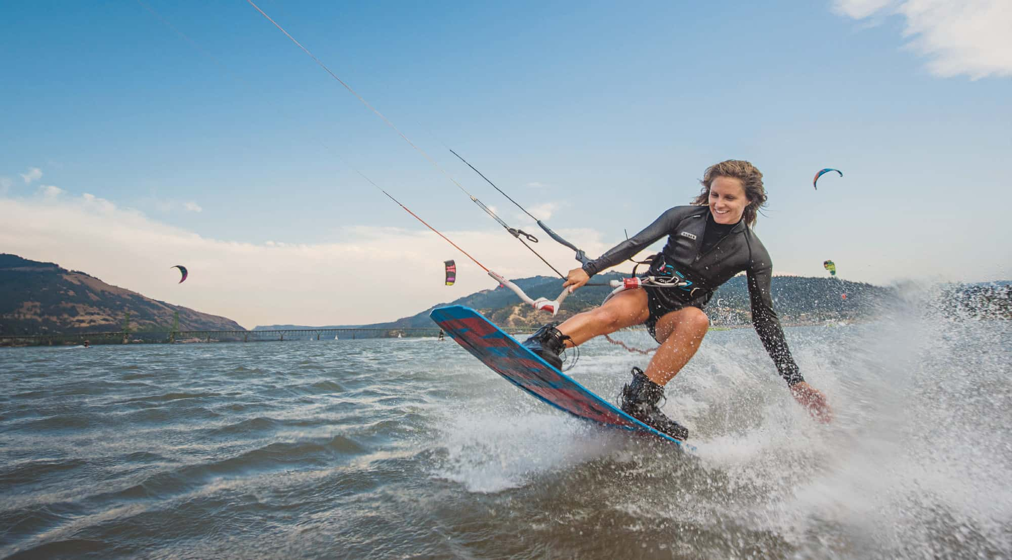 Kiteboarding is the way to catch a wave on the Columbia River.