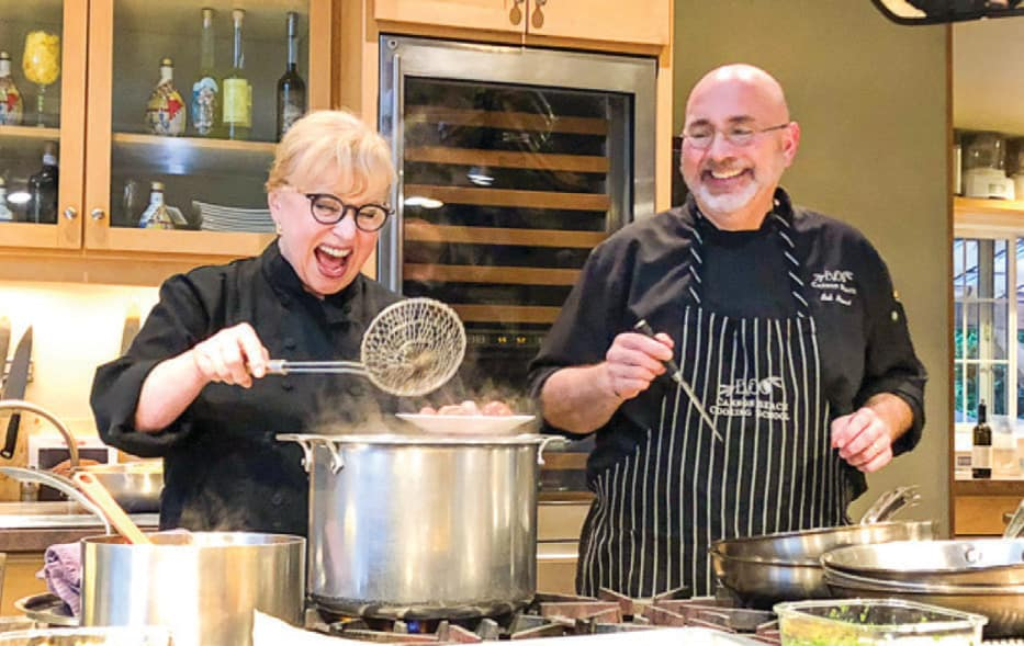 Chefs Bob Neroni and Lenore Emery of EVOO offer a dash of expert tips in their twice-weekly culinary classes.