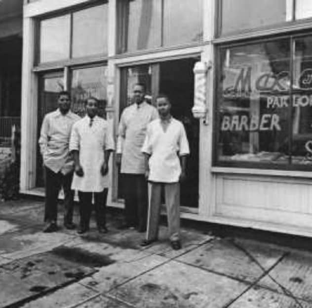 Maxey's Parlor on NE Weidler in 1953, one of many Black-owned businesses on the street.