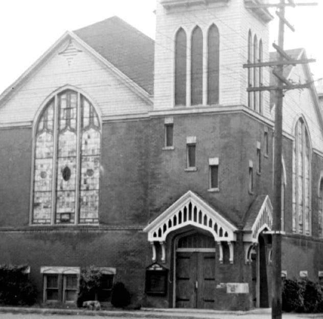 The Bethel African Methodist Episcopal Church, the Sunday meeting spot.