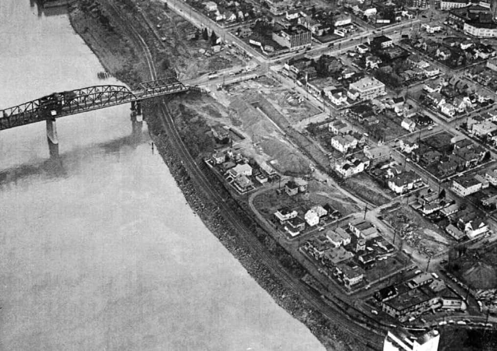 In 1949, construction begins on Interstate Avenue.